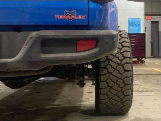 "2021 Jeep Gladiator Aggressive > 1"" outside fender on 20x12 -51 offset Vision Sliver and 33""x12.5"" Kenda Klever R/T on Leveling Kit - Custom Offsets Gallery"