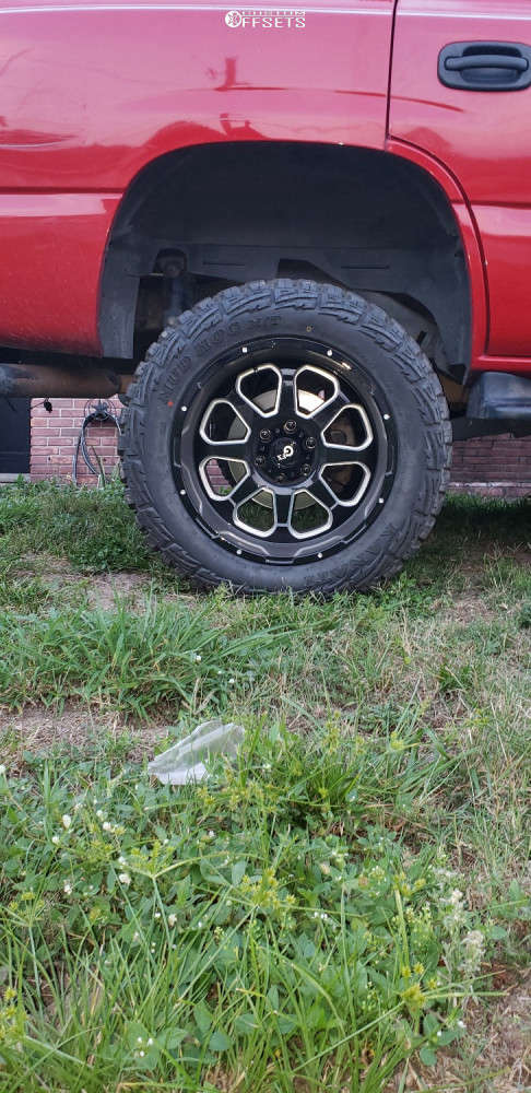 """2002 Chevrolet Tahoe Aggressive > 1"""" outside fender on 20x10 -24 offset G-FX TR10 and 33""""x12.5"""" Kanati Mud Hog on Suspension Lift 6"""" - Custom Offsets Gallery"""