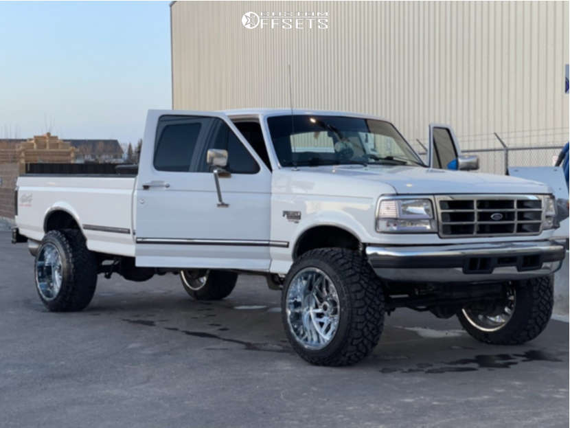 """1995 Ford F-350 Super Aggressive 3""""-5"""" on 22x14 -71 offset TIS 544 and 35""""x12.5"""" Kenda Klever R/t on Leveling Kit - Custom Offsets Gallery"""