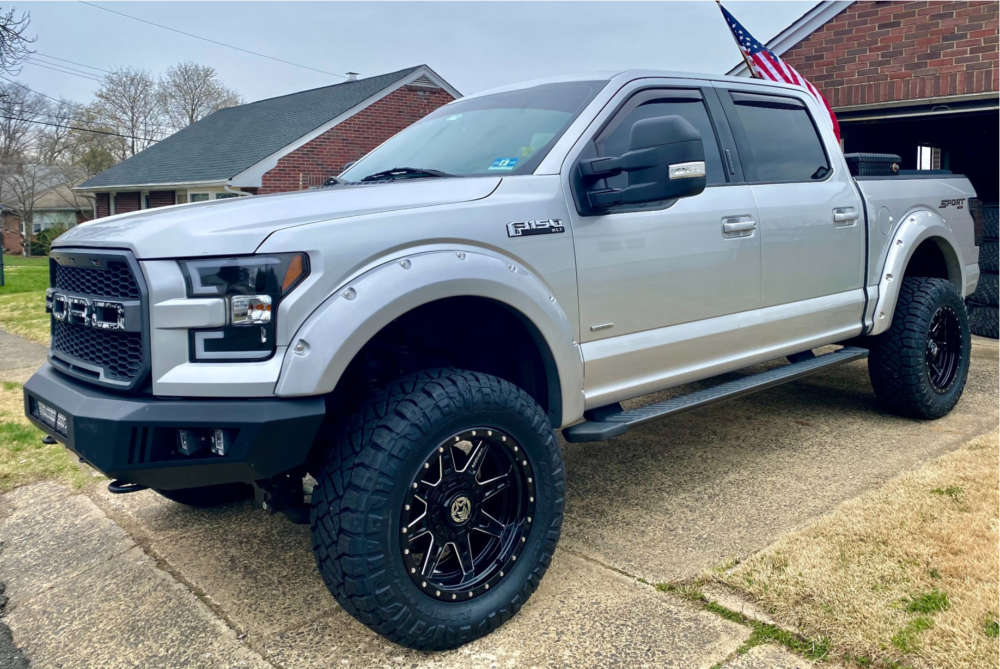 """2015 Ford F-150 Aggressive > 1"""" outside fender on 20x10 -18 offset Anthem Off-Road Rogue and 35""""x12.5"""" Nitto Ridge Grappler on Suspension Lift 6"""" - Custom Offsets Gallery"""