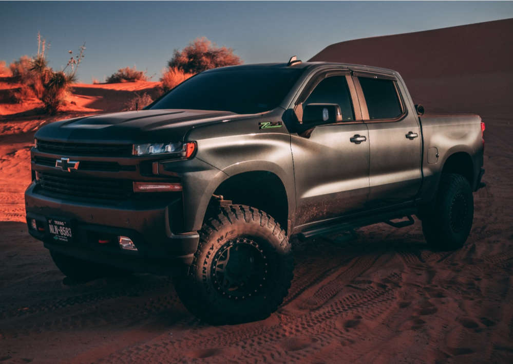 """2020 Chevrolet Silverado 1500 Aggressive > 1"""" outside fender on 17x9 -12 offset Method Mr312 and 37""""x12.5"""" Ironman All Country M/t on Suspension Lift 6"""" - Custom Offsets Gallery"""