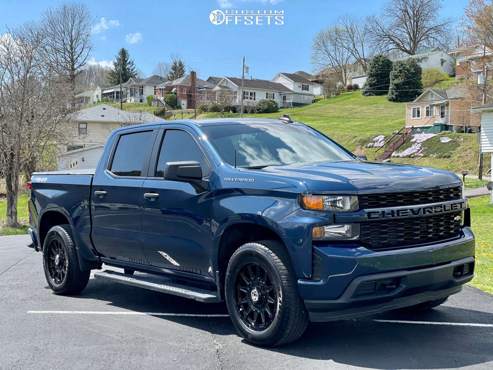 2020 Chevrolet Silverado 1500 Nearly Flush on 20x9 18 offset Anthem Off-Road Liberty and 275/60 General Grabber on Stock Suspension - Custom Offsets Gallery