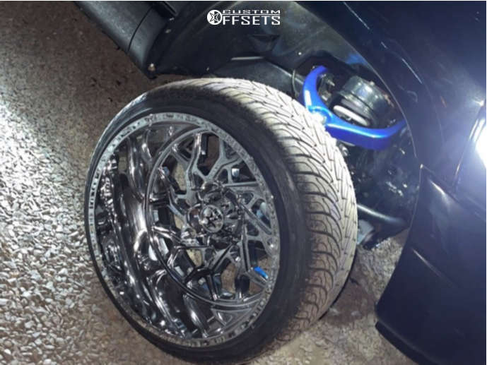 "2008 Dodge Ram 1500 Hella Stance >5"" on 24x14 -76 offset RBP 80r and 32""x12.5"" Atturo Az800 on Suspension Lift 3"" - Custom Offsets Gallery"