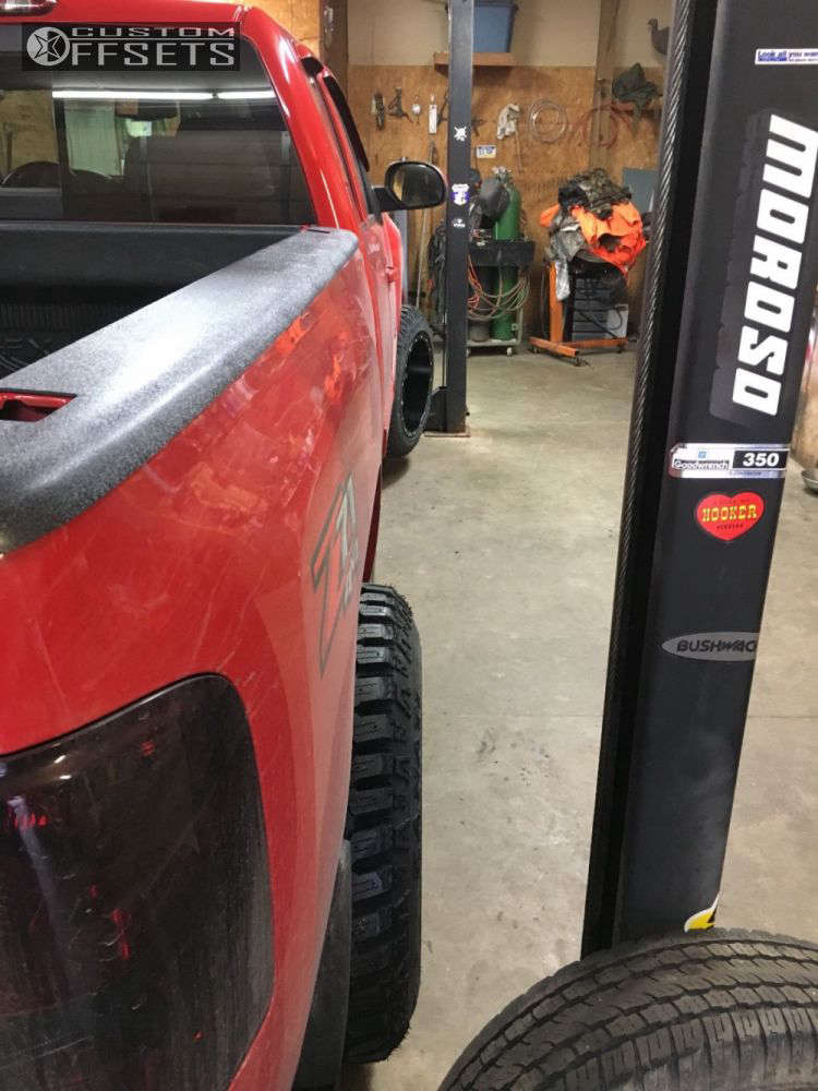 "2011 Chevrolet Silverado 1500 Super Aggressive 3""-5"" on 20x12 -44 offset Fuel Maverick & 275/60 Kanati Trail Hog on Leveling Kit - Custom Offsets Gallery"