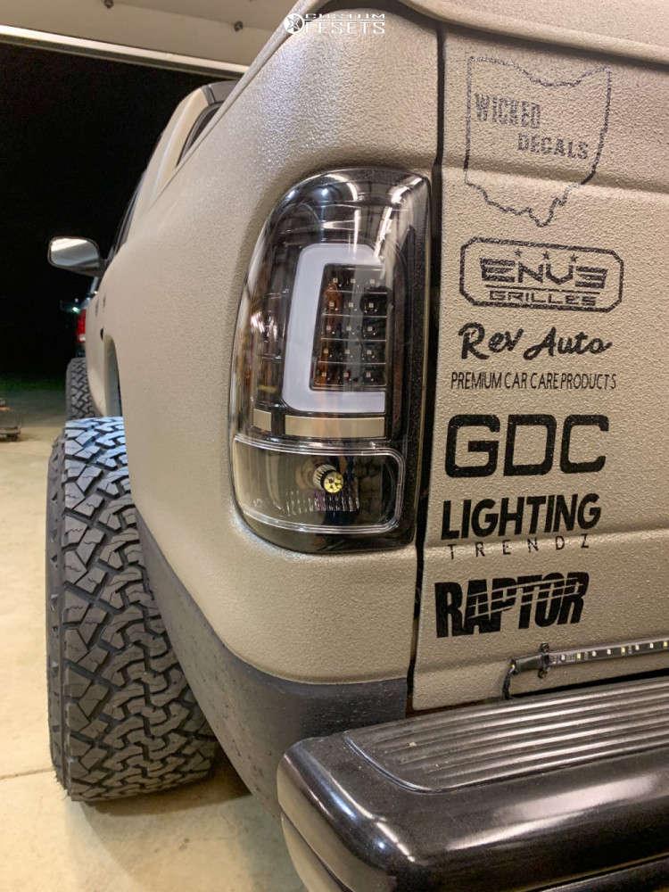 "2002 Dodge Dakota Super Aggressive 3""-5"" on 20x12 -44 offset Anthem Off-Road Liberty & 285/55 Venom Power Terra Hunter X/t on Suspension Lift 3"" - Custom Offsets Gallery"