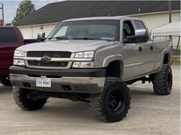 """2004 Chevrolet Silverado 2500 HD Aggressive > 1"""" outside fender on 16x10 -24 offset Pro Comp 51 and 35""""x12.5"""" Interco Tsl Bogger on Suspension Lift 8"""" - Custom Offsets Gallery"""