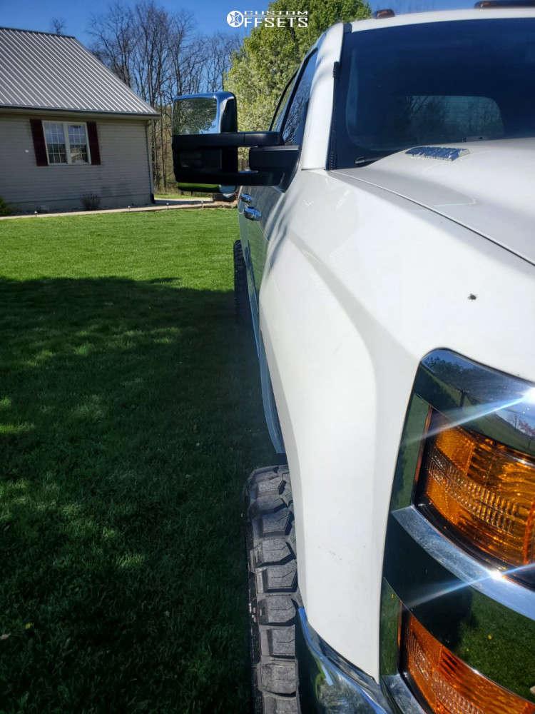 "2015 Chevrolet Silverado 3500 HD Aggressive > 1"" outside fender on 20x10 -25 offset TIS 544bm & 33""x11.5"" Nitto Ridge Grappler on Leveling Kit - Custom Offsets Gallery"