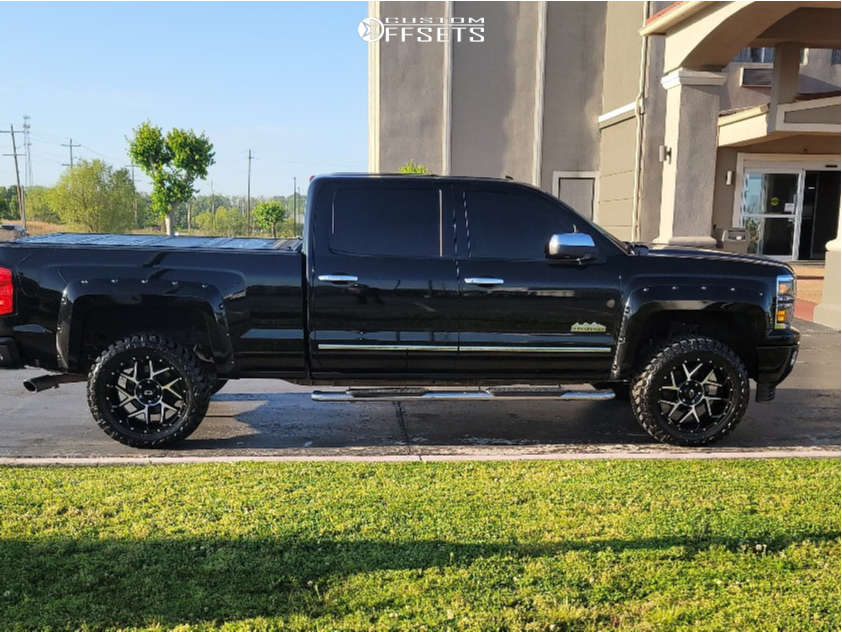 """2014 Chevrolet Express 1500 Aggressive > 1"""" outside fender on 20x10 -29 offset Vision Sliver & 33""""x12.5"""" Atturo Trail Blade Mt on Suspension Lift 3.5"""" - Custom Offsets Gallery"""