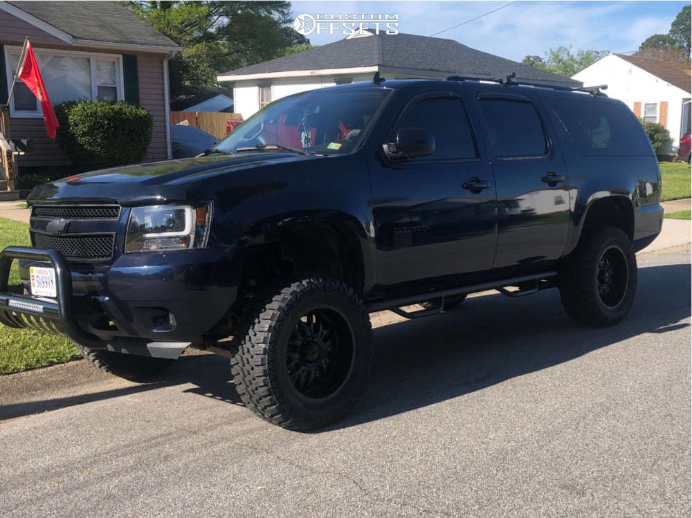 """2007 Chevrolet Suburban 1500 Aggressive > 1"""" outside fender on 20x9 12 offset Ultra Hunter and 35""""x12.5"""" Haida Mud Champ on Suspension Lift 7"""" - Custom Offsets Gallery"""