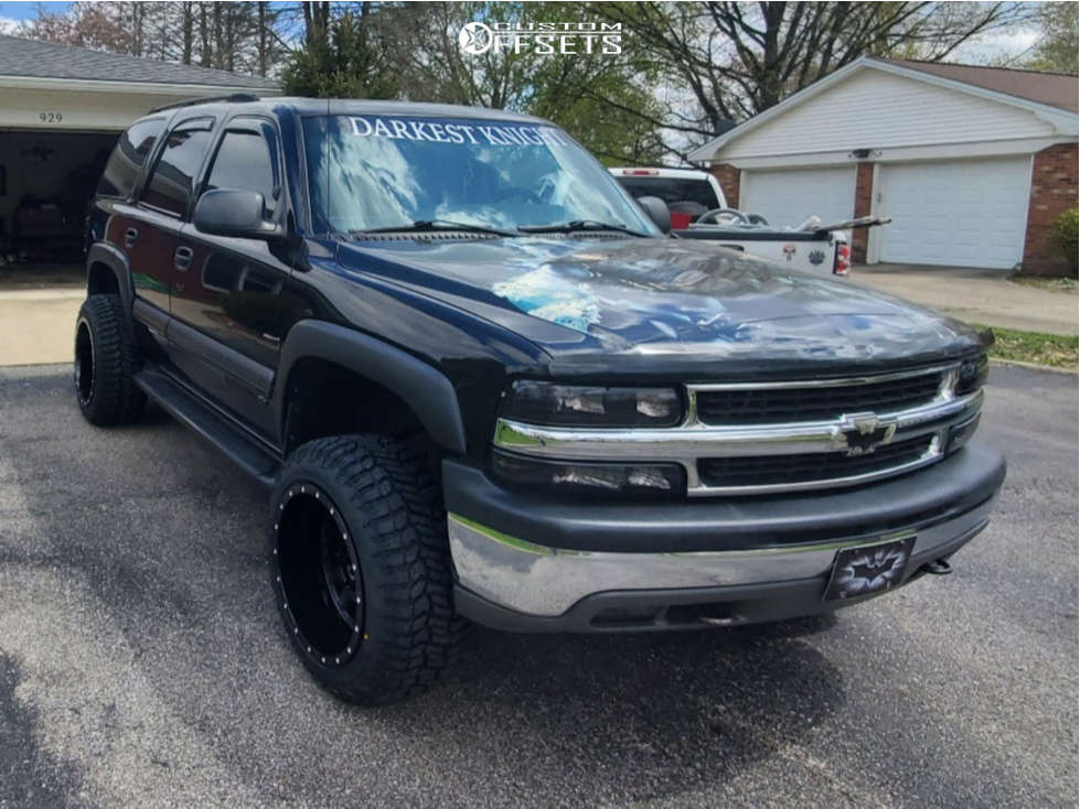 """2003 Chevrolet Tahoe Super Aggressive 3""""-5"""" on 20x12 -44 offset Rbp Forged Glock and 32""""x11.5"""" Renegade Renegade R/t on Suspension Lift 3"""" - Custom Offsets Gallery"""