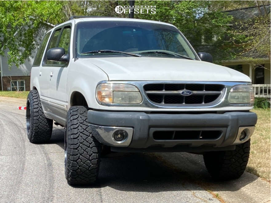 "2000 Ford Explorer Super Aggressive 3""-5"" on 20x12 -51 offset Vision Prowler and 275/55 Kenda Klever R/t on Leveling Kit - Custom Offsets Gallery"