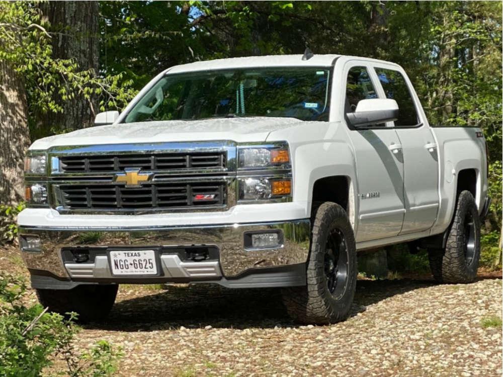 "2015 Chevrolet Silverado 1500 Flush on 17x10 -24 offset XD Xd820 and 33""x12.5"" Nitto Ridge Grappler on Stock Suspension - Custom Offsets Gallery"