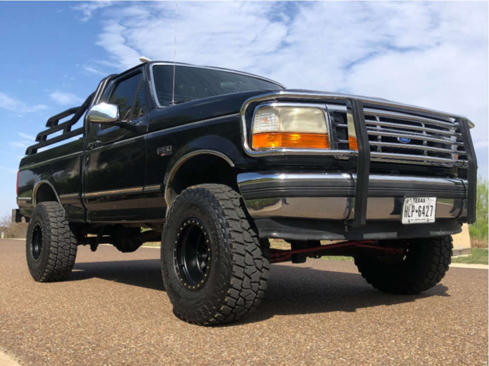 """1995 Ford F-150 Aggressive > 1"""" outside fender on 15x10 -50 offset Method Double Standard & 33""""x12.5"""" Mickey Thompson Baja Atz P3 on Suspension Lift 4"""" - Custom Offsets Gallery"""
