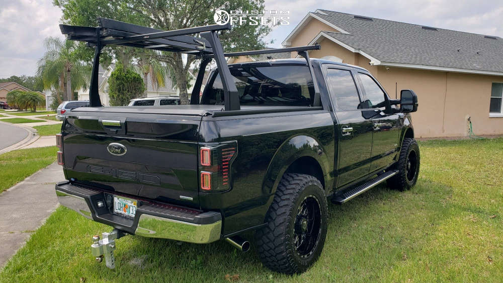 """2019 Ford F-150 Aggressive > 1"""" outside fender on 20x10 -25 offset Tis Forged 544bm & 35""""x12.5"""" Firestone Destination Mt2 on Stock - Custom Offsets Gallery"""