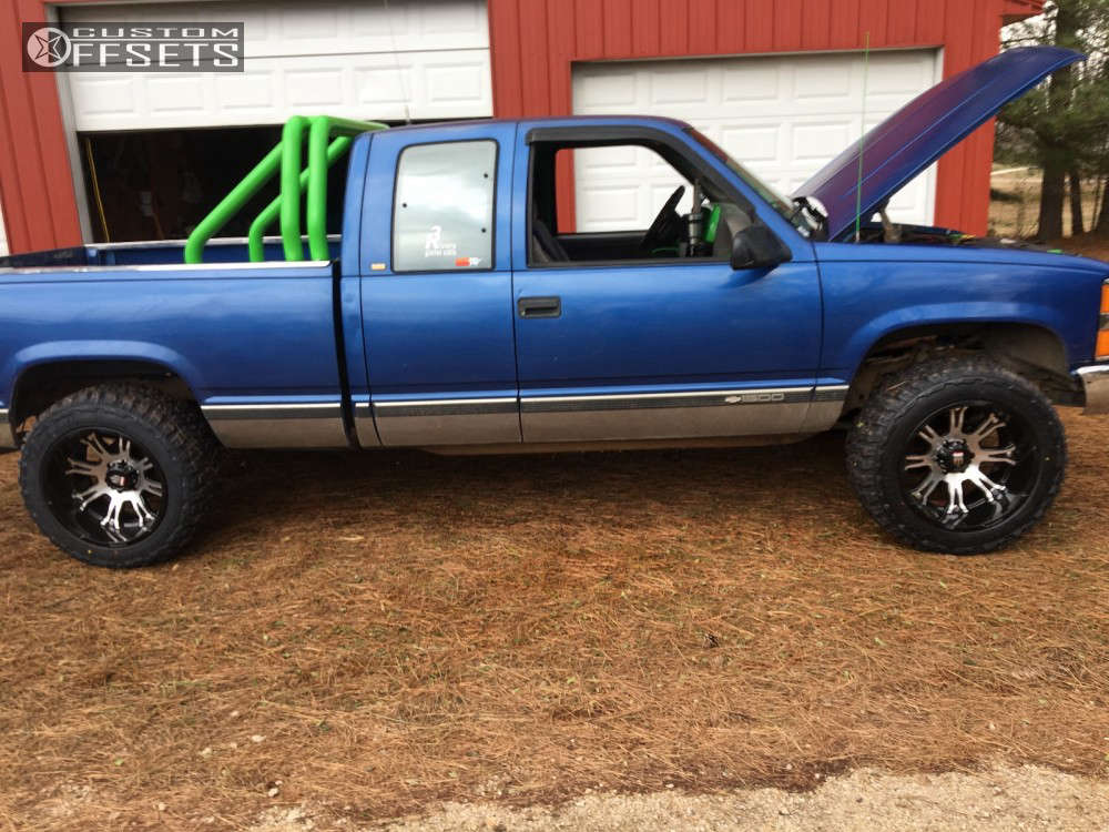 """1997 Chevrolet K1500  on 20x12 -44 offset American Truxx The Bomb & 33""""x12.5"""" Federal Couragia MT on Stock Suspension - Custom Offsets Gallery"""
