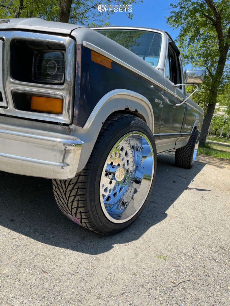 1981 Ford F-150 Slightly Aggressive on 22x12 -51 offset ARKON OFF-ROAD Crown Series Triumph & 305/45 Toyo Tires Proxes St on Stock Suspension - Custom Offsets Gallery