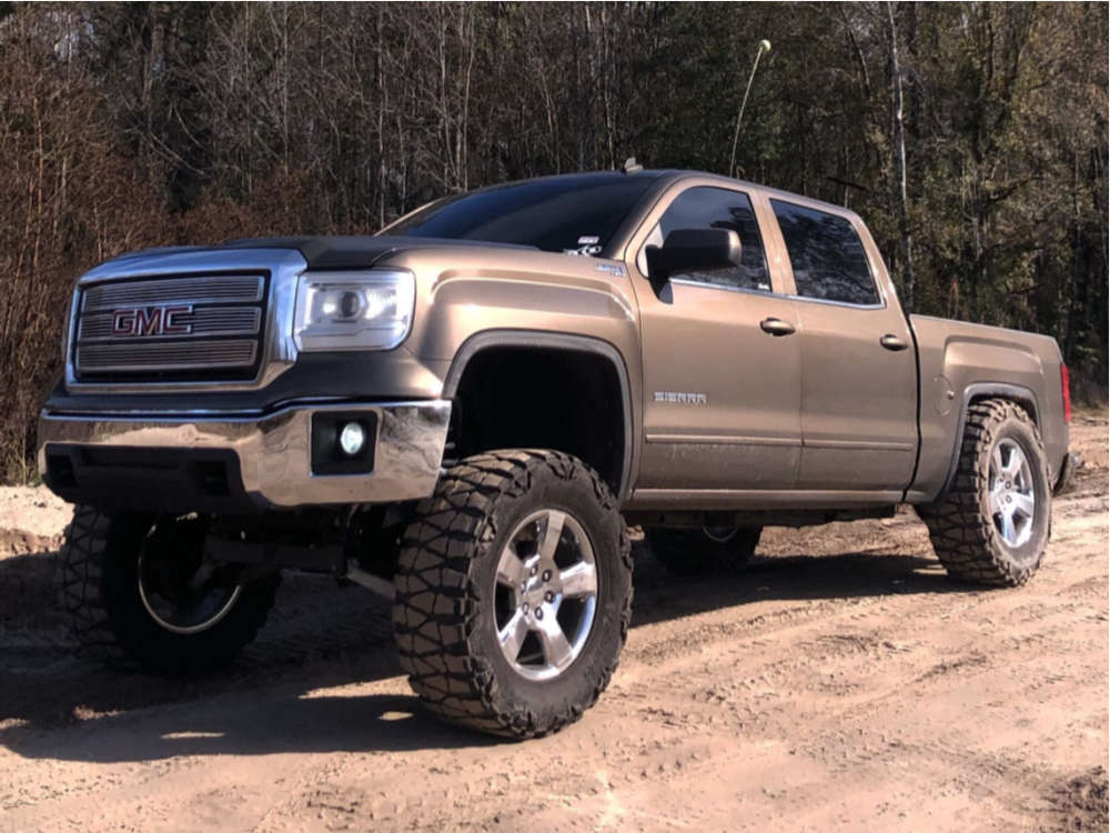 """2014 GMC Sierra 1500 Aggressive > 1"""" outside fender on 20x9 27 offset 4Play OE Wheels Cv76 and 37""""x13.5"""" Nitto Mud Grappler on Suspension Lift 9"""" - Custom Offsets Gallery"""