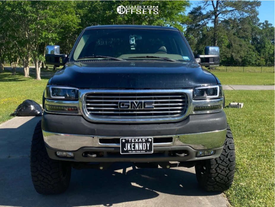 """2002 GMC Sierra 2500 HD Super Aggressive 3""""-5"""" on 20x10 -24 offset XD Xd820 and 35""""x12.5"""" Kenda Klever R/t on Suspension Lift 6"""" - Custom Offsets Gallery"""