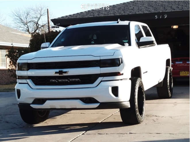 """2016 Chevrolet 1500 Aggressive > 1"""" outside fender on 20x10 0 offset XD Xd849 and 35""""x12.5"""" Ironman All Country Mt on Suspension Lift 7"""" - Custom Offsets Gallery"""