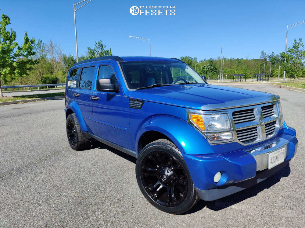 """2007 Dodge Nitro Aggressive > 1"""" outside fender on 20x9 1 offset Fuel Vapor and 255/45 Nitto Nt421q on Stock Suspension - Custom Offsets Gallery"""