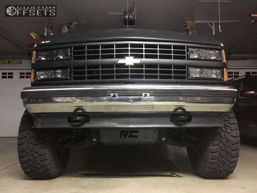 """1993 Chevrolet K1500 Super Aggressive 3""""-5"""" on 20x12 -44 offset XD Riot & 35""""x12.5"""" Mastercraft Courser MXT on Suspension Lift 6"""" - Custom Offsets Gallery"""