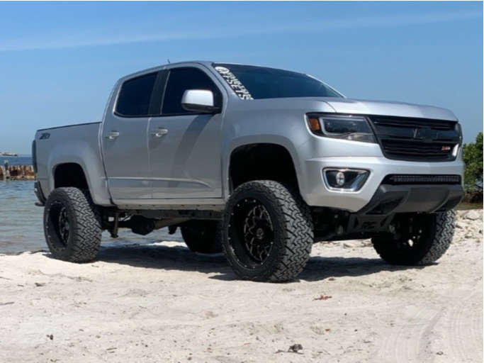 "2020 Chevrolet Colorado Super Aggressive 3""-5"" on 20x12 -44 offset Anthem Off-Road Avenger & 33""x12.5"" Venom Power Terra Hunter X/t on Suspension Lift 6"" - Custom Offsets Gallery"