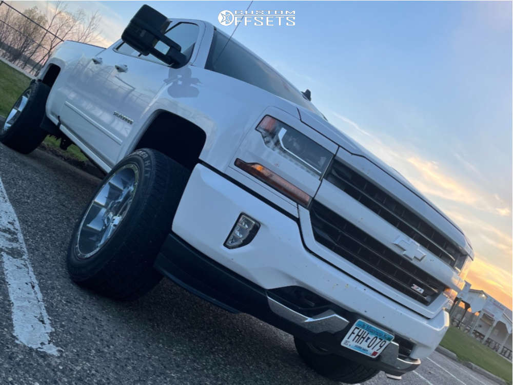 """2016 Chevrolet 1500 Super Aggressive 3""""-5"""" on 20x12 -44 offset Gear Off-Road Big Block and 305/11.5 Cooper Discoverer on Leveling Kit - Custom Offsets Gallery"""