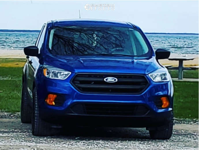 2017 Ford Escape Slightly Aggressive on 17x7.5 44 offset Voxx Masi and 235/55 Falken Wildpeak At Trail on Stock Suspension - Custom Offsets Gallery