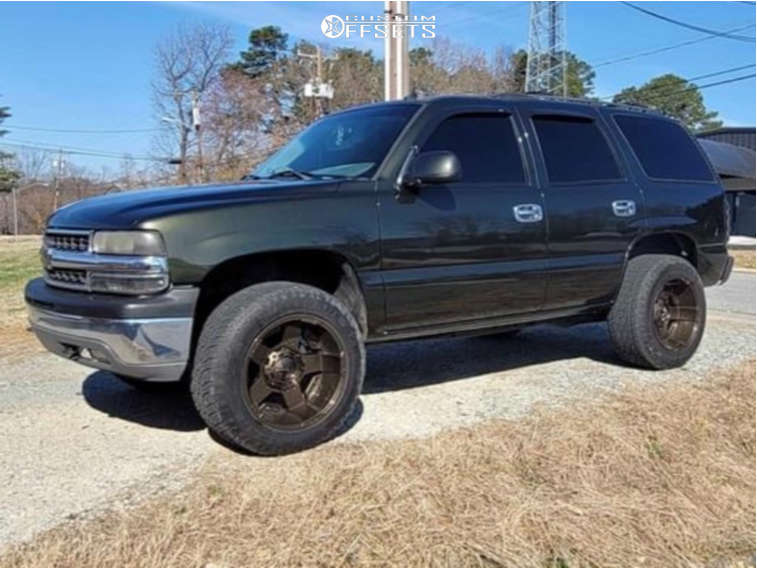 """2003 Chevrolet Tahoe Aggressive > 1"""" outside fender on 13x12 0 offset Rockstarr Other and 25""""x7.5"""" N/A N/a on Stock - Custom Offsets Gallery"""