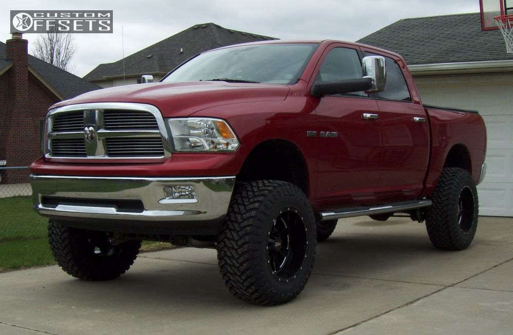 """2010 Ram 1500 Super Aggressive 3""""-5"""" on 20x12 -44 offset Moto Metal MO962 and 37""""x13.5"""" Atturo Trail Blade MT on Suspension Lift 6"""" - Custom Offsets Gallery"""