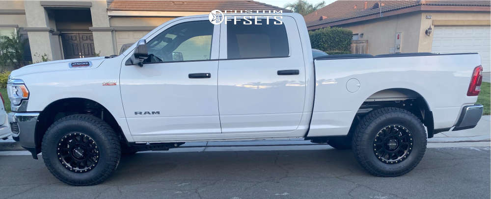 2021 Ram 2500 Slightly Aggressive on 18x9 18 offset Method Nv and 285/75 Nitto Terra Grappler G2 on Stock Suspension - Custom Offsets Gallery