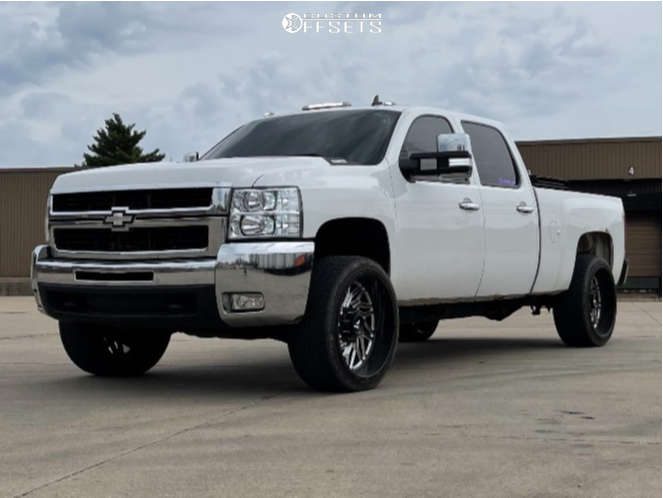 """2008 Chevrolet Silverado 2500 HD Aggressive > 1"""" outside fender on 24x12 0 offset Fittipaldi Offroad Ftc13 and 305/35 Toyo Proxes S/t on Lowered 2F / 4R - Custom Offsets Gallery"""