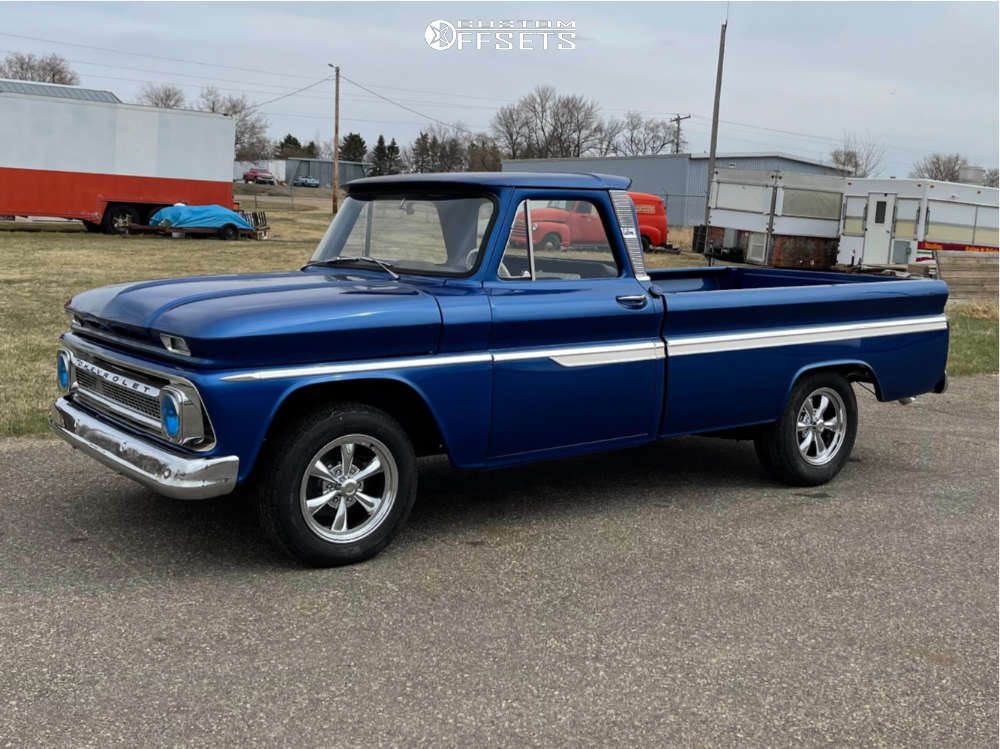 1966 Chevrolet C10 Pickup Tucked on 17x8 19 offset Vision Legend 6 and 255/70 Bridgestone Other on Stock Suspension - Custom Offsets Gallery