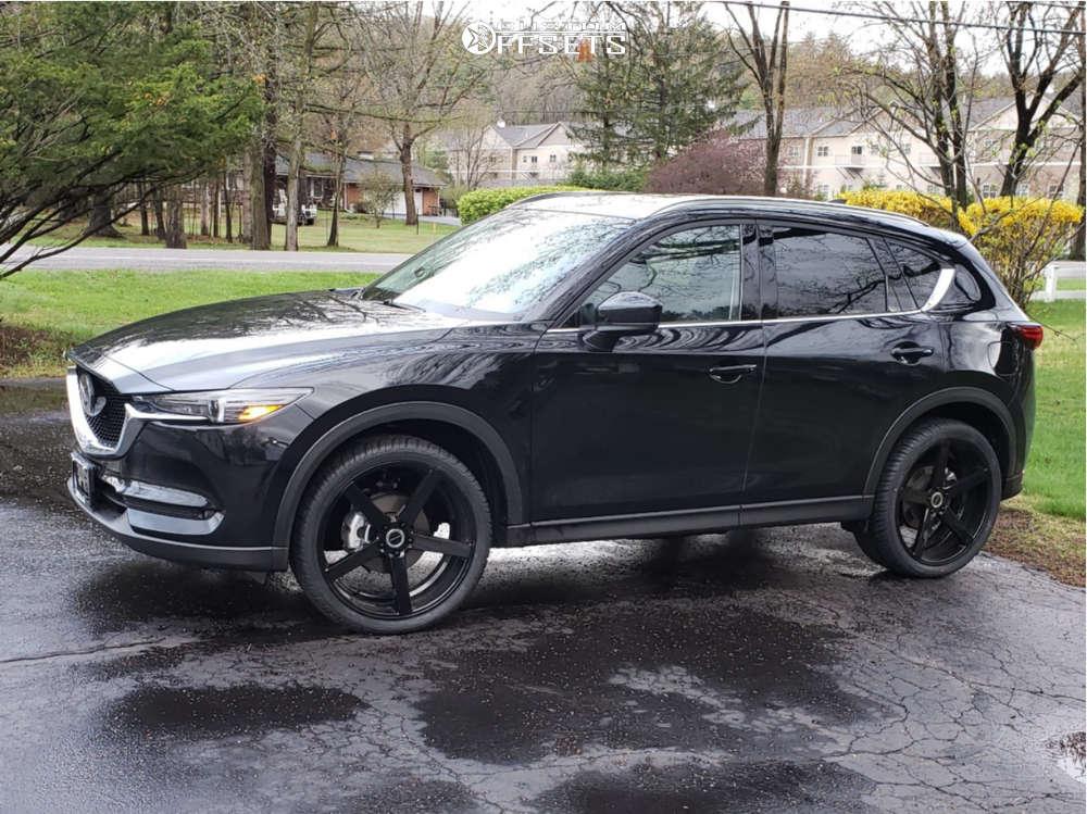 "2021 Mazda CX-5 Flush on 22x8.5 40 offset Strada Perfetto and 29""x9.5"" Atturo Az800 on Stock Suspension - Custom Offsets Gallery"