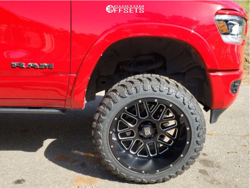 """2019 Ram 1500 Aggressive > 1"""" outside fender on 22x12 -44 offset XD Xd820 and 35""""x12.5"""" Atturo Trail Blade Mt on Suspension Lift 6"""" - Custom Offsets Gallery"""