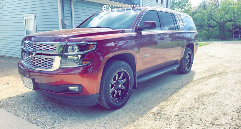 2016 Chevrolet Suburban Flush on 20x9 20 offset Fuel Maverick D538 and 275/55 Hankook Dynapro At2 on Stock Suspension - Custom Offsets Gallery