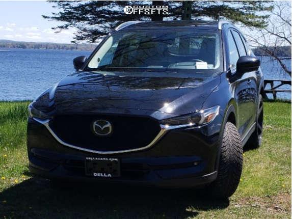 "2021 Mazda CX-5 Aggressive > 1"" outside fender on 22x8.5 40 offset Strada Perfetto and 29""x9.5"" Atturo Az800 on Stock Suspension - Custom Offsets Gallery"