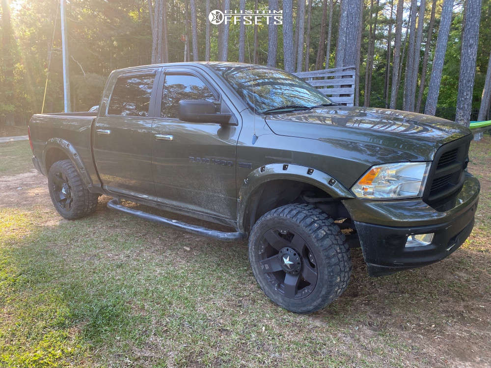 """2014 Ram 1500 Aggressive > 1"""" outside fender on 20x10 -24 offset XD Xd775 and 33""""x12.5"""" Federal Couragia Mt on Suspension Lift 4"""" - Custom Offsets Gallery"""