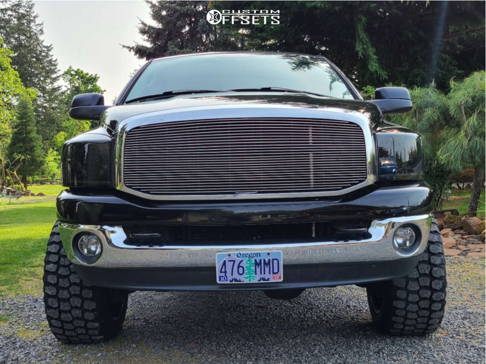 """2007 Dodge Ram 2500 Super Aggressive 3""""-5"""" on 20x12 -44 offset TIS 544bm and 33""""x12.5"""" Ironman All Country M/t on Stock Suspension - Custom Offsets Gallery"""