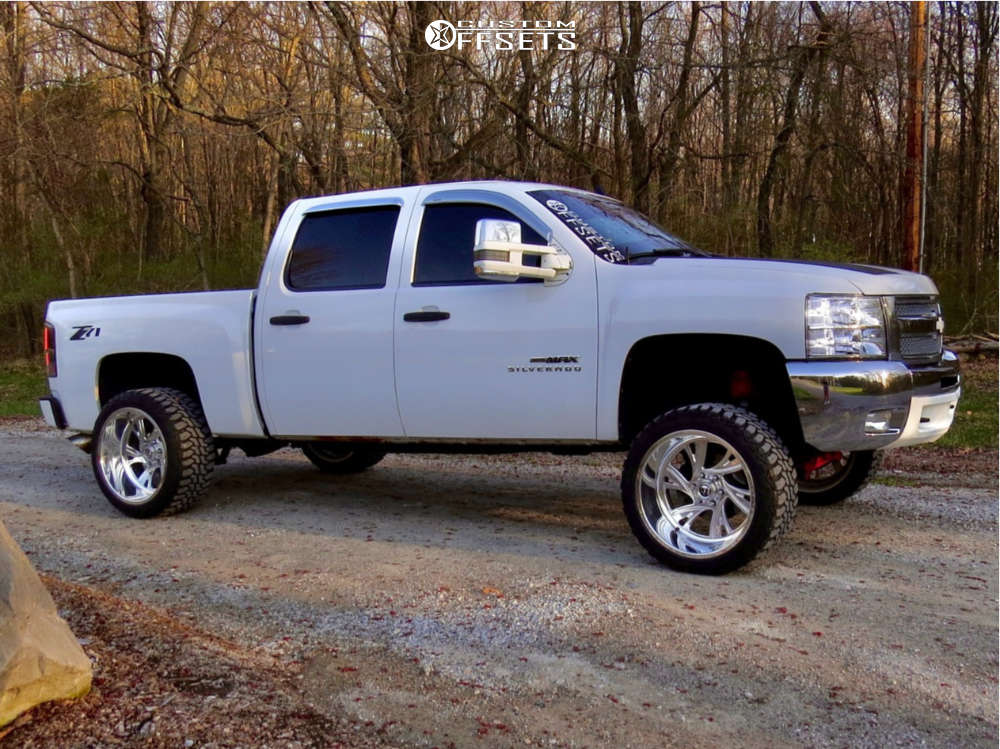 """2012 Chevrolet Silverado 1500 Super Aggressive 3""""-5"""" on 22x12 -51 offset Fuel Forged Ff41 and 33""""x12.5"""" Haida Mud Champ on Suspension Lift 7.5"""" - Custom Offsets Gallery"""