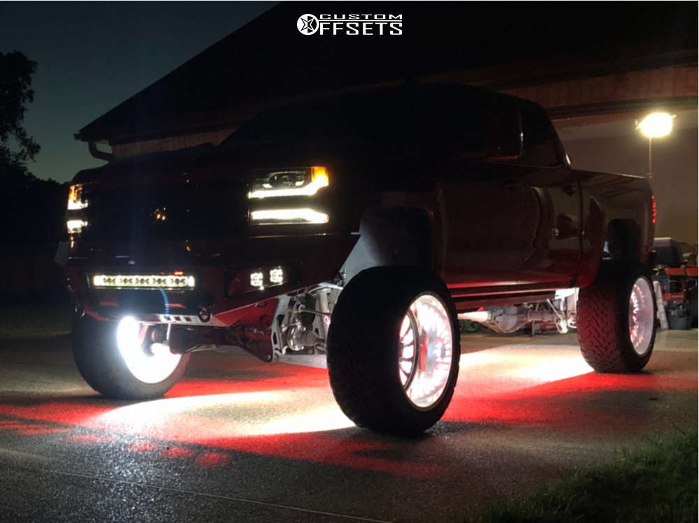 """2017 Chevrolet Silverado 1500 Super Aggressive 3""""-5"""" on 26x14 -73 offset American Force Fallout Fp and 37""""x13.5"""" Venom Power Terra Hunter X/T on Suspension Lift 9"""" - Custom Offsets Gallery"""