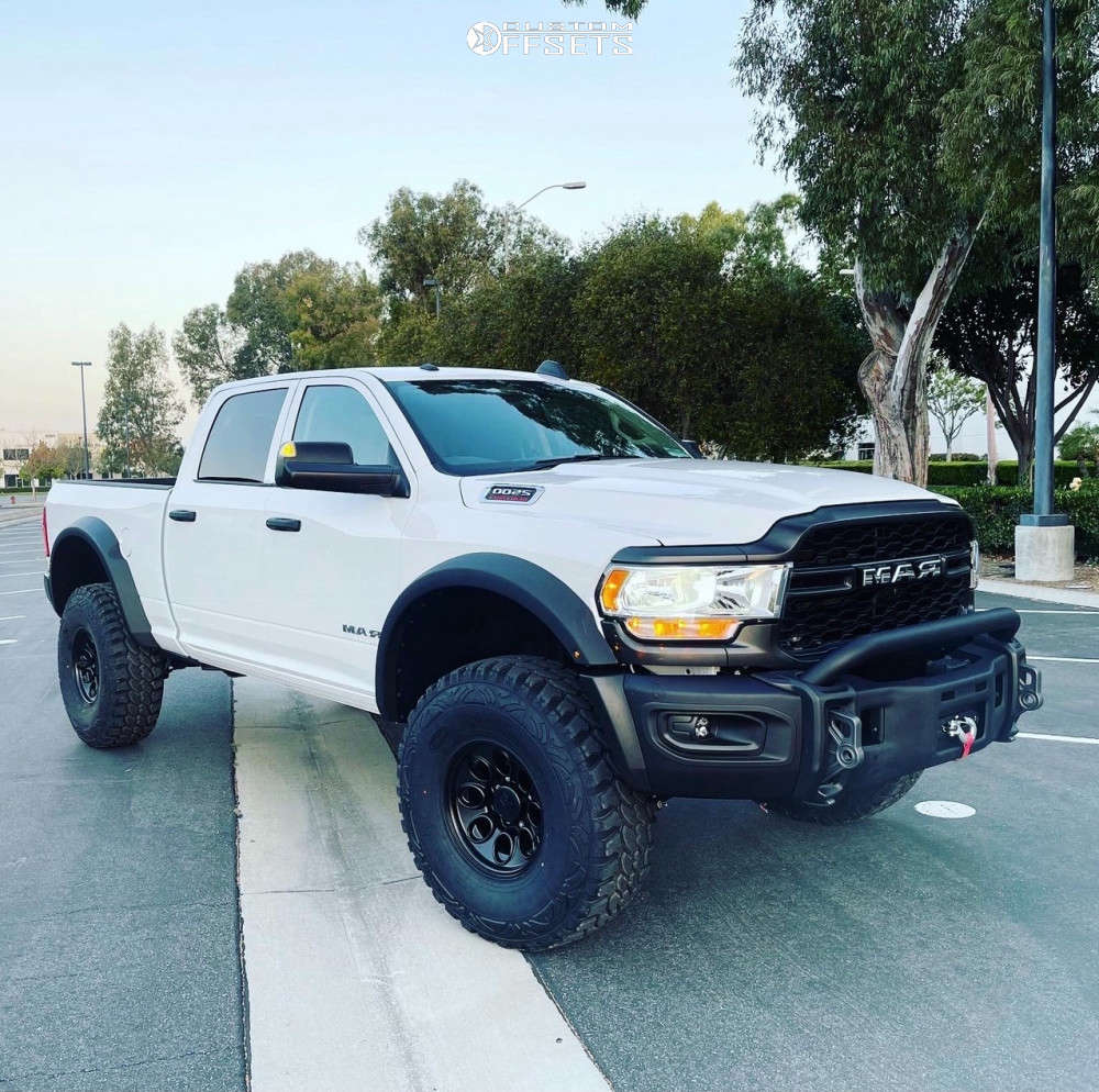 """2020 Ram 2500 Aggressive > 1"""" outside fender on 17x10 0 offset AEV Salta and 40""""x13.5"""" Pro Comp Xtreme Mt2 on Suspension Lift 3"""" - Custom Offsets Gallery"""