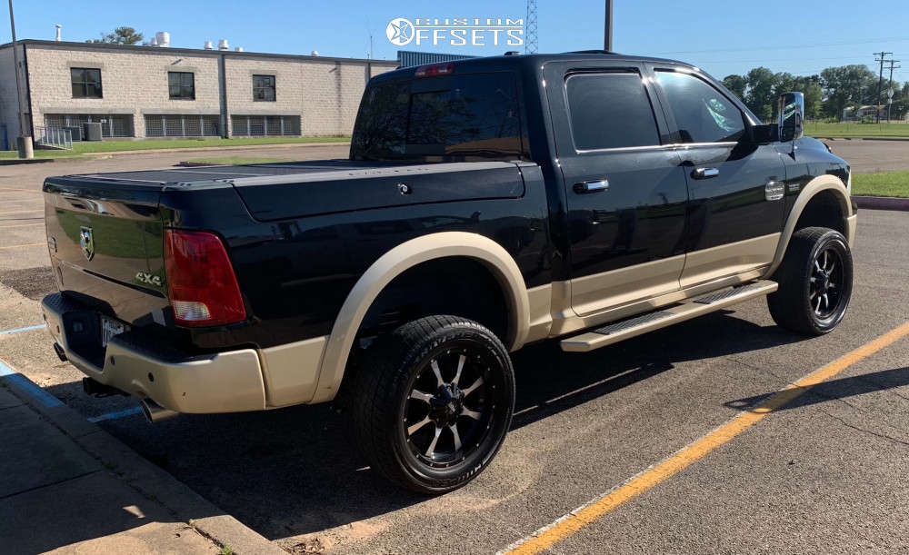 """2011 Ram 1500 Aggressive > 1"""" outside fender on 20x9 0 offset Moto Metal Mo970 and 305/50 Cooper Discoverer Ht Plus on Suspension Lift 6"""" - Custom Offsets Gallery"""