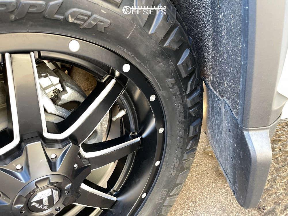 2020 Chevrolet Silverado 3500 HD HellaFlush on 22x9.5 25 offset Fuel Maverick D538 and 325/50 Nitto Ridge Grappler on Stock Suspension - Custom Offsets Gallery