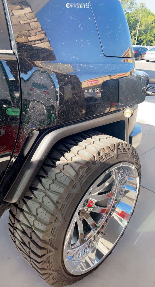 """2007 Toyota FJ Cruiser Hella Stance >5"""" on 26x14 -76 offset Hardcore Offroad Hc15 and 345/40 Pioneer Pioneer M/t on Suspension Lift 8"""" - Custom Offsets Gallery"""