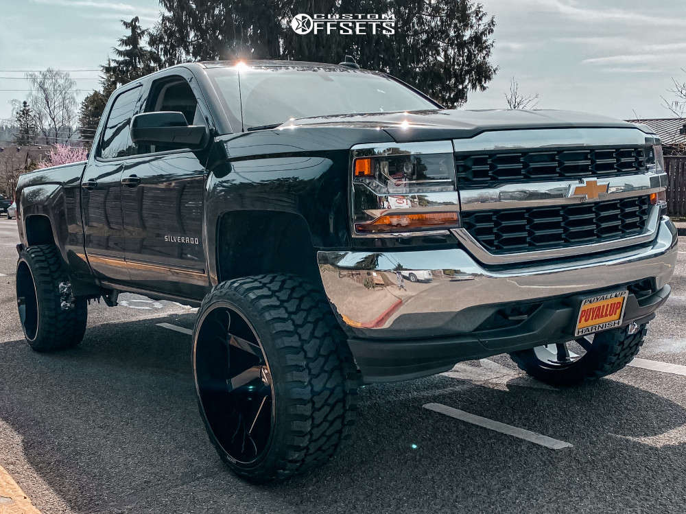 """2018 Chevrolet Silverado 1500 Super Aggressive 3""""-5"""" on 26x14 -81 offset ARKON OFF-ROAD Lincoln and 35""""x15.5"""" Fury Country Hunter Mt2 on Suspension Lift 7"""" - Custom Offsets Gallery"""