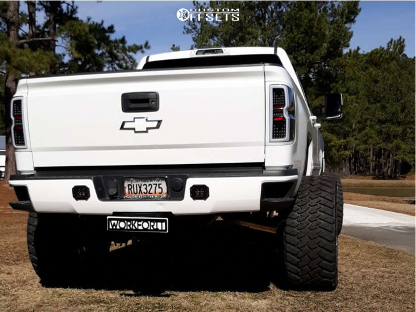 "2015 Chevrolet Silverado 2500 HD Hella Stance >5"" on 26x14 -81 offset RBP Scorpion & 37""x14"" AMP Mud Terrain Attack Mt A on Suspension Lift 8"" - Custom Offsets Gallery"