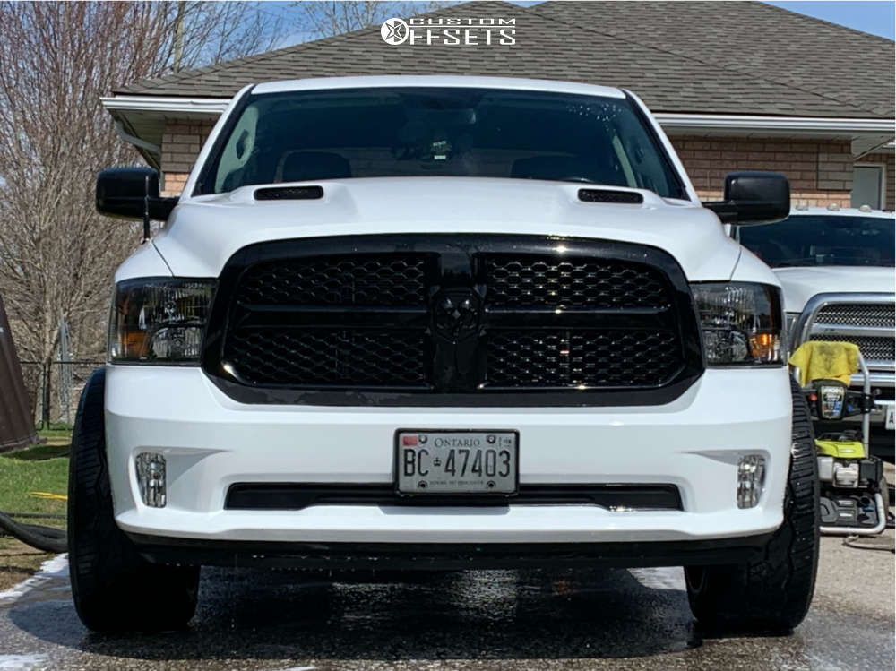 """2019 Ram 1500 Classic Aggressive > 1"""" outside fender on 22x12 -51 offset Vision Spider & 33""""x11.5"""" Nitto Nt420v on Stock Suspension - Custom Offsets Gallery"""