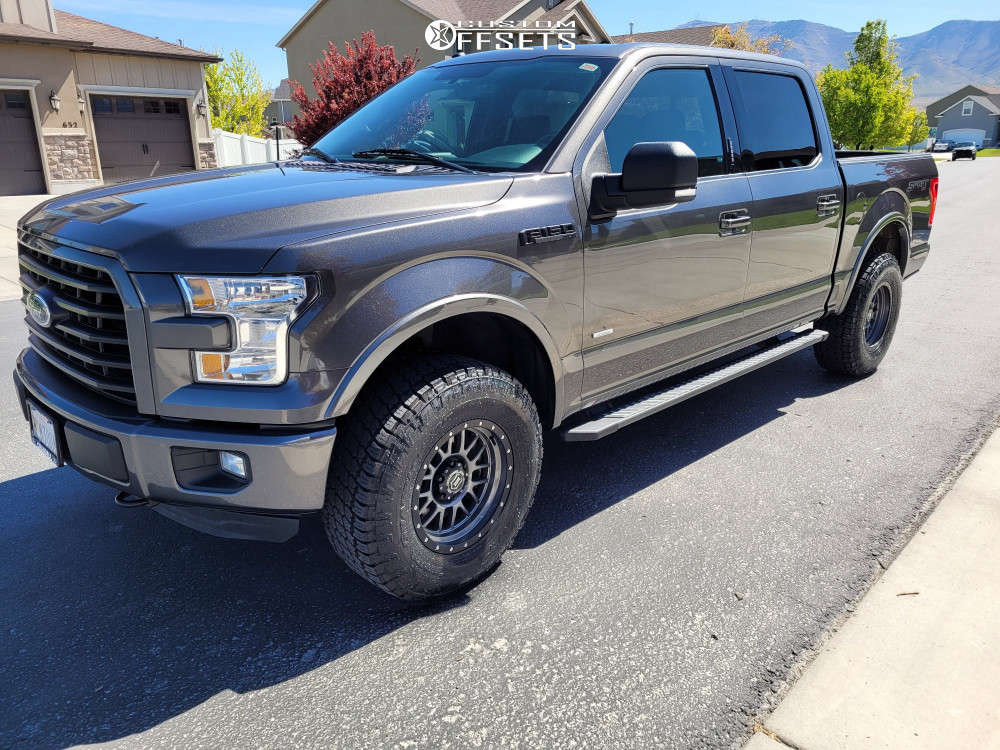 2016 Ford F-150 Slightly Aggressive on 17x8.5 6 offset Icon Alloys Alpha and 295/70 Nitto Terra Grappler G2 on Leveling Kit - Custom Offsets Gallery