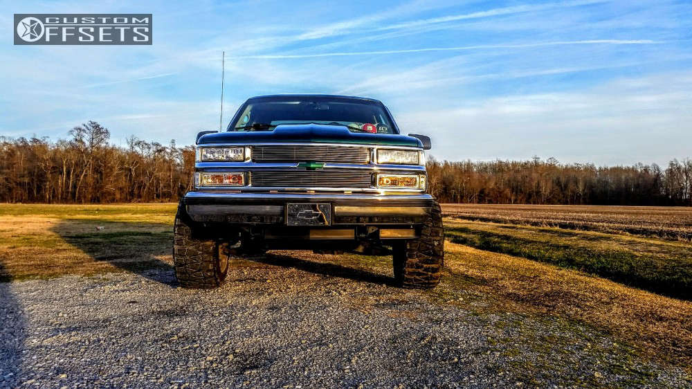 """1996 Chevrolet K1500 Super Aggressive 3""""-5"""" on 20x12 -44 offset Fuel Octane & 33""""x12.5"""" Nitto Mud Grappler on Body Lift 3"""" - Custom Offsets Gallery"""